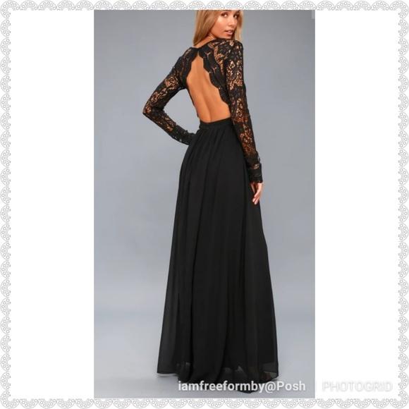 562858e931e2 Lulu's Dresses | Lulus Awaken My Love Black Crochet Maxi | Poshmark